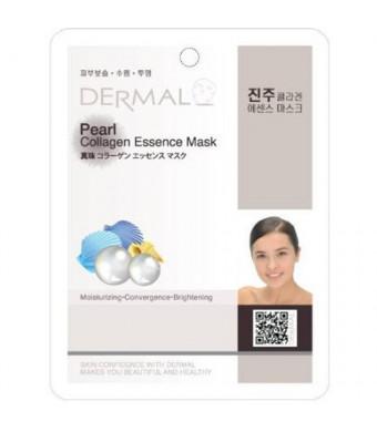 Dermal Korea Collagen Essence Full Face Facial Mask Sheet - Pearl (10 Pack)