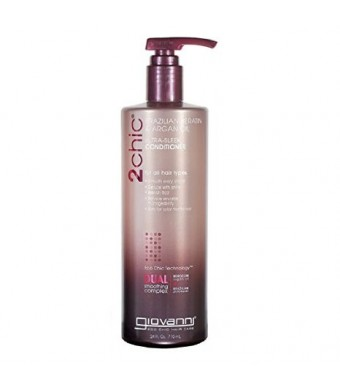 Giovanni 2chic Brazilian Keratin and Argan Oil Ultra-Sleek Conditioner, 24 Fluid Ounce