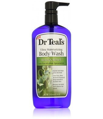 Dr. Teal's Ultra Moisturizing Body Wash Relax and Relief with Eucalyptus Spearmint, 24 Fluid Ounce