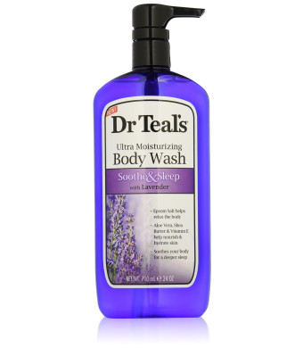 Dr. Teal's Ultra Moisturizing Body Wash Sooth and Sleep with Lavender, 24 Fluid Ounce