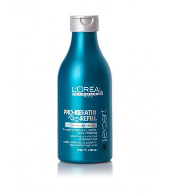 Loreal Pro-Keratin Refill Shampoo for Damaged and Weakened Hair 8.45 oz