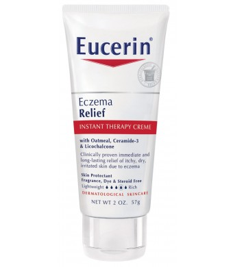 Eucerin Eczema Relief, Instant Therapy Creme, 2 Ounce
