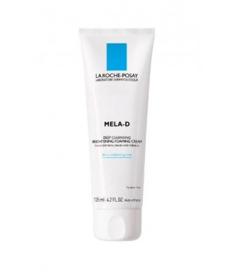 La Roche-Posay Mela D Deep Cleansing Brightening Foaming Cream, 4.2 Fluid Ounce