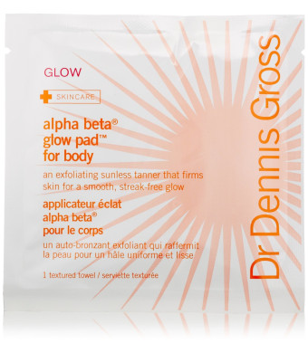 Dr. Dennis Gross Skincare Alpha Beta Glow Pad for Body, 8 Count