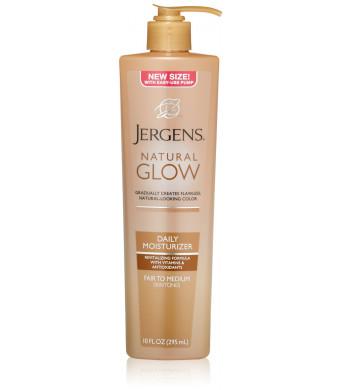 Jergens Natural Glow Daily Moisturizer, Fair to Medium, 10 Ounce