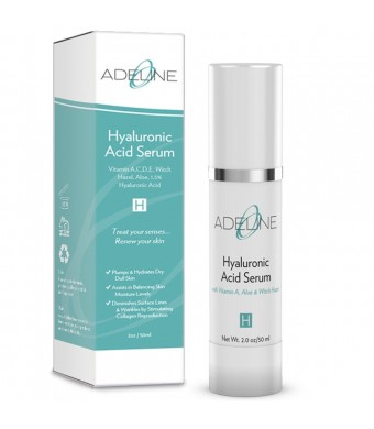 Adeline - Hyaluronic Acid Serum With Vitamin C and Retinol And Vitamin E - 1.7oz Airless Pump Bottle