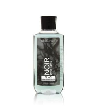 Bath Body Works Noir for Men 10.0 oz 2 in 1 Hair Body Wash