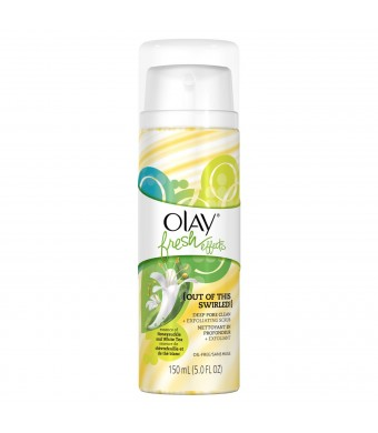Olay Fresh Effects Out Of This Swirled Deep Pore Clean Plus Exfoliating Scrub, Essence Of Honeysuckle And White Tea 5.0 Fluid Ounce