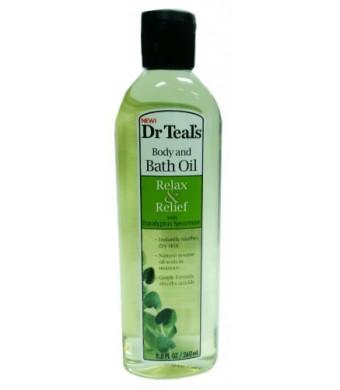 Dr. Teal's Body and Bath Oil With Eucalyptus Spearmint, 8.8 FL OZ