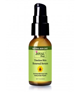 Joyal Beauty #1 BEST Royal Jelly Serum For Face-Timeless Skin Renewal Serum.Enriched With Organic Bee Propolis,Royal Jelly,Honey.Naturally Boost Coll