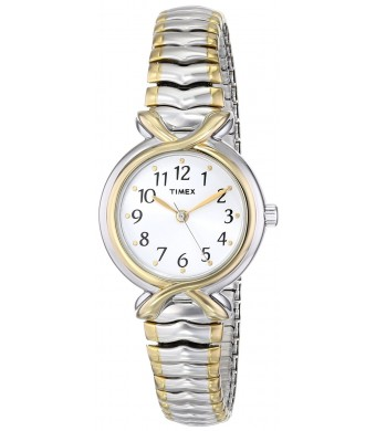 Timex Women's Two-Toned Watch With White Dial