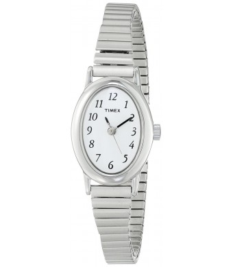Timex Women's T21902 Cavatina Silver-Tone Expansion Band Watch