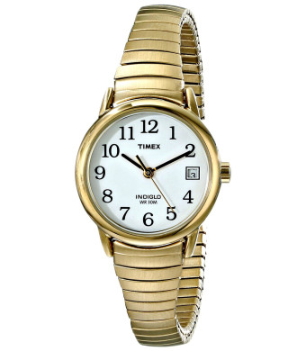 Timex Women's T2H351 Easy Reader Gold-Tone Brass Watch with Expansion Band