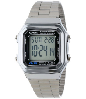 "Casio Men's A178WA-1A ""Illuminator""  Stainless Steel Watch"
