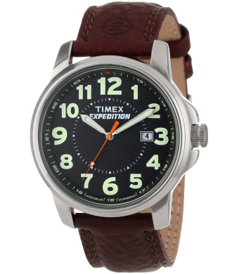 "Timex Men's T44921 ""Expedition"" Brass Watch with Brown Leather Strap"
