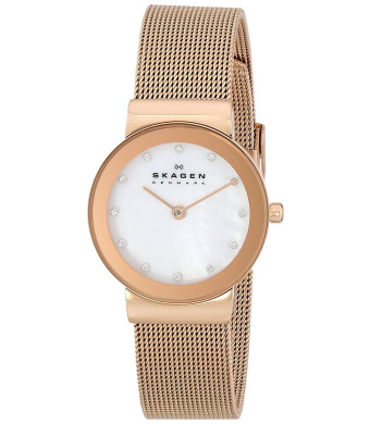 Skagen Women's 358SRRD Freja Quartz 2 Hand Stainless Steel Rose Gold Watch