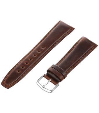 Hadley-Roma Men's MSM881RB-220 22-mm Brown Oil-Tan Leather Watch Strap