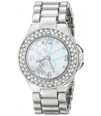 Disney Women's TK2031 Tinkerbell Mother-of-Pearl Dial Silver-Tone Bracelet Watch
