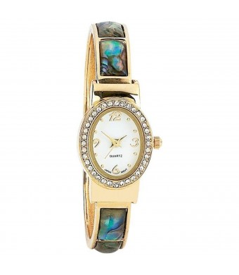 LADIES WTCH W/ GOLD JEWEL BAND
