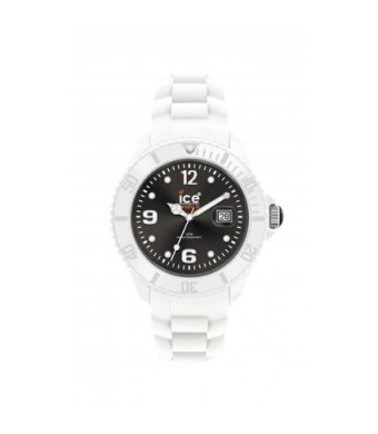 Ice Men's SIWKBS10 Ice-White Black Dial with White Bracelet Watch