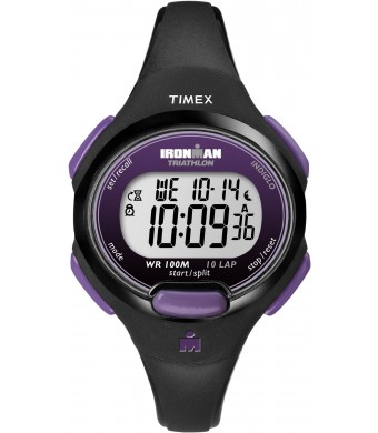 Timex Women's T5K5239J Sport Ironman Black and Purple Mid Size 10 Lap Watch