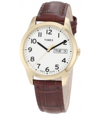 "Timex Men's T2N065 ""Elevated Classics""  Watch with Leather Band"