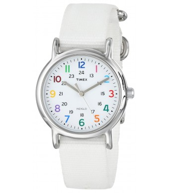 Timex Women's T2N837KW Weekender Slip Through Strap Watch