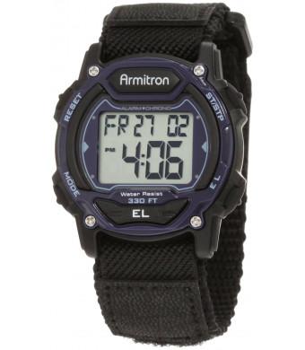 Armitron Sport Unisex 45/7004BLU Sport Watch with Black Nylon Band