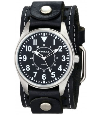 Nemesis Men's STH095K Black Collection Dial Presition Display Watch
