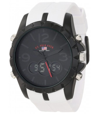 U.S. Polo Assn. Sport Men's US9241 White Analog Digital Strap Watch