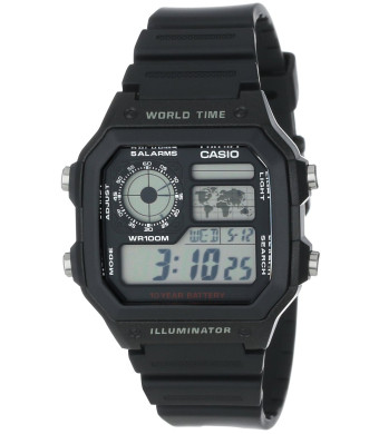 Casio Men's AE1200WH-1A World Time Watch