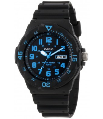 "Casio Unisex MRW200H-2BV ""Neo-Display""  Black Resin Watch"