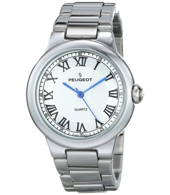 Peugeot Women's 7086S Analog Display Japanese Quartz Silver Watch