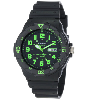 "Casio Men's MRW200H-3BV ""Neo-Display""  Sport Watch with Black Band"
