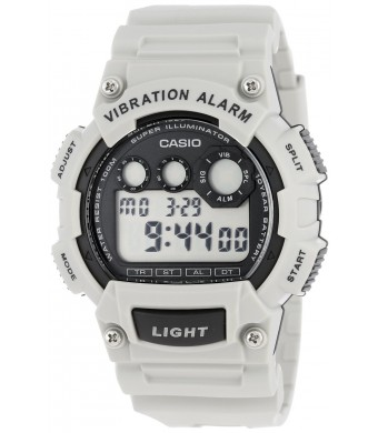 Casio Men's W-735H-8A2VCF Vibration Alarm Digital Watch