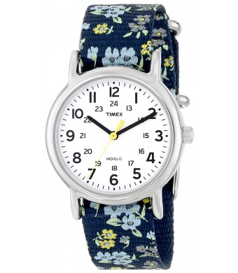 Timex Woman's T2P370 Weekender Watch with Fabric Band