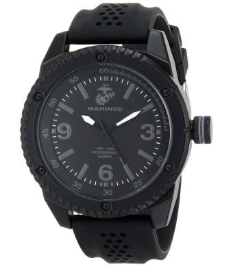 Wrist Armor Men's 37100002 C20 Analog Display Quartz Watch with Black Silicone Strap