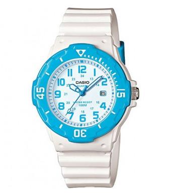 Casio Women's LRW-200H-2BVCF Dive Style Analog Display Quartz White Watch