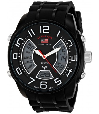 U.S. Polo Assn. Sport Men's US9484 Analog-Digital Display Analog Quartz Black Watch