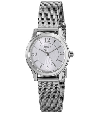 "Timex Women's T2P4579J ""Main Street Modern Minis""  Silver-Tone Watch"