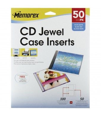 Memorex Jewel Case Inserts - 50 Pack
