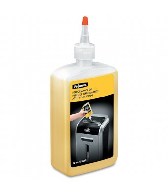 Fellowes Shredder Oil, 12 oz. Bottle with Extension Nozzle (35250)