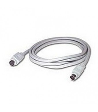 C2G / Cables to Go 02318 8-pin Mini-Din Male/Male Serial Cable, Charcoal (10 Feet/ 3.04 Meters)
