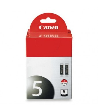 Canon PGI-5 BK 0628B009 2-Pack Pigment Black Ink Tanks
