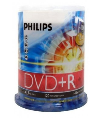 DVD+R 4.7GB DATA 120MIN VID 16X 100-SPINDLE