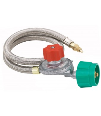 Bayou Classic Stainless Braided Hose / Regulator Assembly, 5-PSi