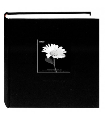 Pioneer 200 Pocket Fabric Frame Cover Photo Album, Deep Black