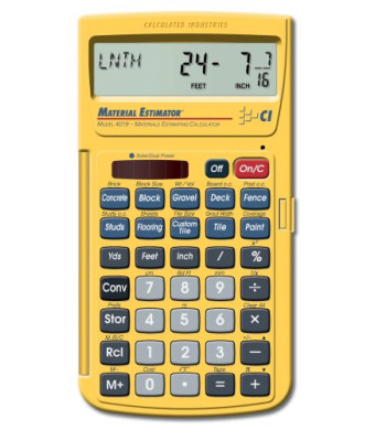Calculated Industries 4019 Materials Estimating Calculator