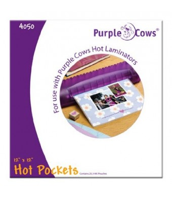 PURPLE COWS Darice 20 Piece Hot Pockets, 12 by 12""