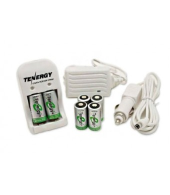 Kits: 6 RCR123A 3.0V 750mAh LiFePO4 Rechargeable Batteries with a Smart Charger